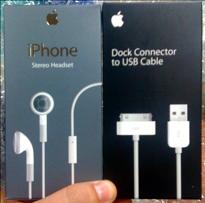 iPhone ステレオヘッドセットとドックコネクタ